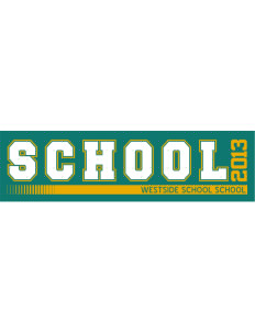 "Westside School School Bumper Sticker 11"" x 3"""