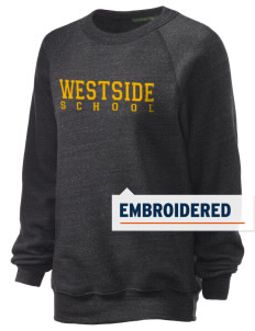 Westside School School Embroidered Unisex Alternative Eco-Fleece Raglan Sweatshirt