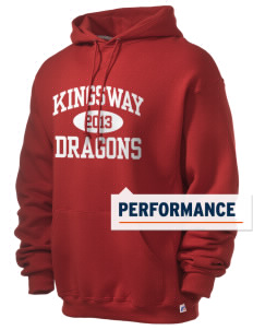 Kingsway Middle School Dragons Russell Men's Dri-Power Hooded Sweatshirt