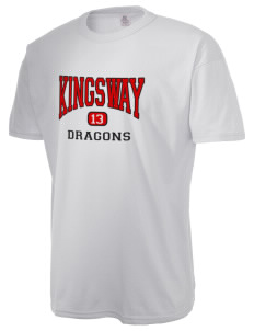 Kingsway Middle School Dragons Authentic Russell Men's NuBlend T-Shirt