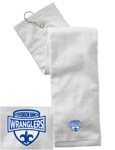Stevenson Ranch Elementary School Wranglers Embroidered Hand Towel with Grommet