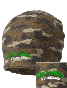 Fontainebleau Junior High School Hurricanes Embroidered Camo Beanie