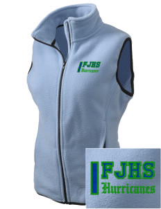 Fontainebleau Junior High School Hurricanes Embroidered Women's Fleece Vest