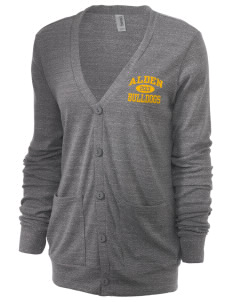 Alden Middle School Bulldogs Unisex 5.6 oz Triblend Cardigan