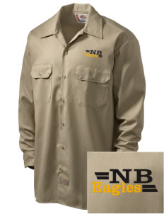 New Beginnings School Eagles Embroidered Dickies Men's Long-Sleeve Workshirt