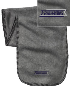 Penns Creek Elementary School Panthers Embroidered Fleece Scarf