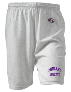 "Midland Community Middle School Bobcats  Champion Women's Gym Shorts, 6"" Inseam"