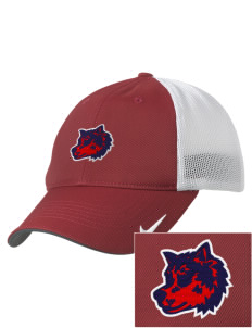 West Black Hills High School Wolves Embroidered Nike Golf Mesh Back Cap