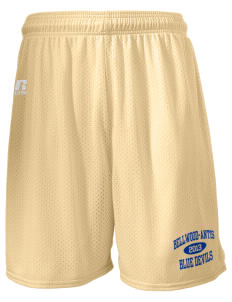 "Bellwood-Antis Middle School Blue Devils  Russell Men's Mesh Shorts, 7"" Inseam"