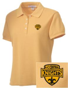 A-C Central High School Knights Embroidered Women's Performance Plus Pique Polo