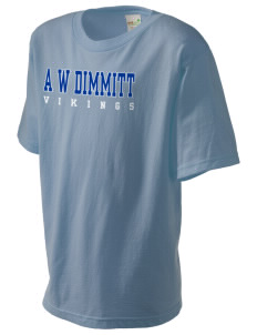 A W Dimmitt Middle School Vikings Kid's Organic T-Shirt