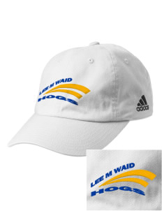 Lee M Waid Elementary School Hogs Embroidered adidas Relaxed Cresting Cap