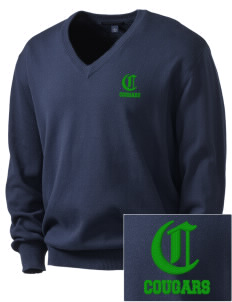Glendale Adventist Academy Cougars Embroidered Men's V-Neck Sweater
