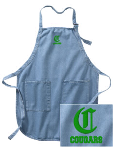 Glendale Adventist Academy Cougars Embroidered Full-Length Apron with Pockets