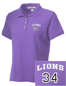 Redding Christian School Lions Embroidered Women's Performance Plus Pique Polo