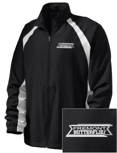 Fremont Community School Butterflies  Embroidered Men's Full Zip Warm Up Jacket