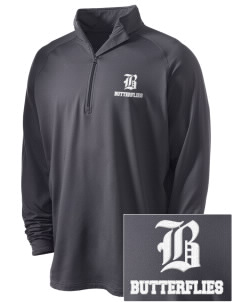 Fremont Community School Butterflies Embroidered Men's Stretched Half Zip Pullover