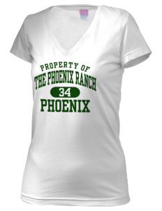 The Phoenix Ranch School Phoenix Juniors' Fine Jersey V-Neck Longer Length T-shirt