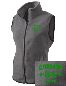 Coombs Middle School Colts Embroidered Women's Fleece Vest