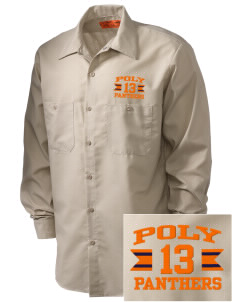 Polytechnic School Panthers Embroidered Men's Industrial Work Shirt - Regular