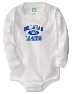 Dollahan Elementary School Dalmations  Baby Long Sleeve 1-Piece with Shoulder Snaps