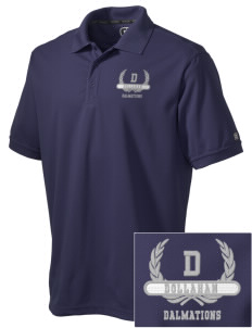 Dollahan Elementary School Dalmations Embroidered OGIO Men's Caliber Polo