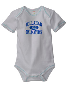 Dollahan Elementary School Dalmations Baby Zig-Zag Creeper