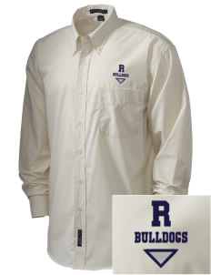 Redlands Adventist Academy Bulldogs  Embroidered Men's Easy Care, Soil Resistant Shirt