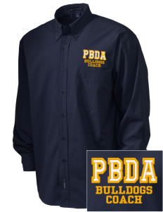 Palm Beach Day Academy Bulldogs  Embroidered Men's Easy Care, Soil Resistant Shirt