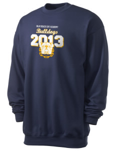 Palm Beach Day Academy Bulldogs Men's 7.8 oz Lightweight Crewneck Sweatshirt