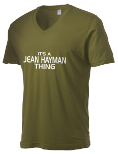 Jean Hayman Elementary School Huskies Alternative Men's 3.7 oz Basic V-Neck T-Shirt