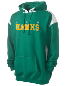 IKM Middle School Hawks Men's Pullover Hooded Sweatshirt with Contrast Color