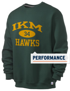 IKM Middle School Hawks  Russell Men's Dri-Power Crewneck Sweatshirt