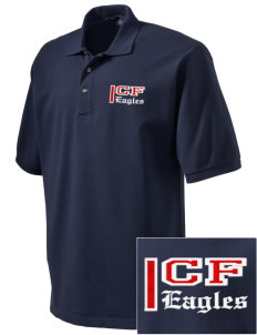 Christian Faith School Eagles Embroidered Tall Men's Pique Polo
