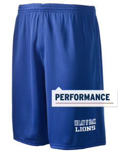 "Our Lady Of Grace School Lions Holloway Men's Speed Shorts, 9"" Inseam"