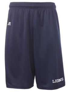 "Our Lady Of Grace School Lions  Russell Deluxe Mesh Shorts, 10"" Inseam"