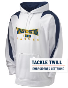 Washington Elementary School Eagles Holloway Men's Sports Fleece Hooded Sweatshirt with Tackle Twill