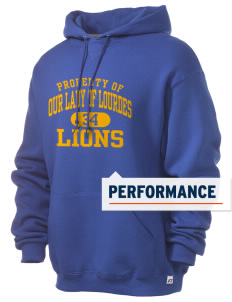 Our Lady Of Lourdes School Lions Russell Men's Dri-Power Hooded Sweatshirt