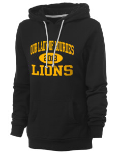 Our Lady Of Lourdes School Lions Women's Core Fleece Hooded Sweatshirt