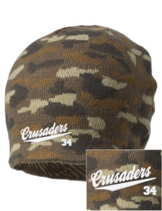Saint John Of The Cross School Crusaders Embroidered Camo Beanie