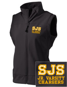 Saint Justin School Chargers  Embroidered Women's Glacier Soft Shell Vest