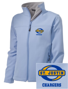 Saint Justin School Chargers Embroidered Women's Soft Shell Jacket