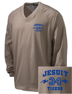Jesuit High School Tigers Embroidered adidas Men's ClimaProof V-Neck Wind Shirt
