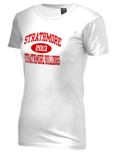 Strathmore Middle School Strathmore Bulldogs Alternative Women's Basic Crew T-Shirt