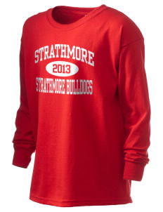Strathmore Middle School Strathmore Bulldogs Kid's 6.1 oz Long Sleeve Ultra Cotton T-Shirt
