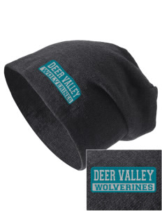 Deer Valley High School Wolverines Embroidered Slouch Beanie