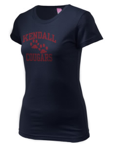 Kendall Elementary School Cougars  Juniors' Fine Jersey Longer Length T-Shirt