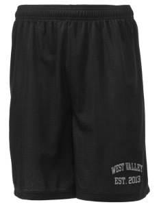 "West Valley Middle School Wolves Men's Mesh Shorts, 7-1/2"" Inseam"
