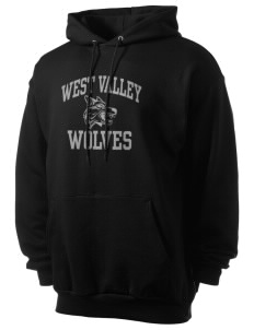 West Valley Middle School Wolves Men's 7.8 oz Lightweight Hooded Sweatshirt