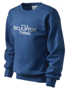 Sculptor Elementary School Painters With Brushes Kid's Crewneck Sweatshirt
